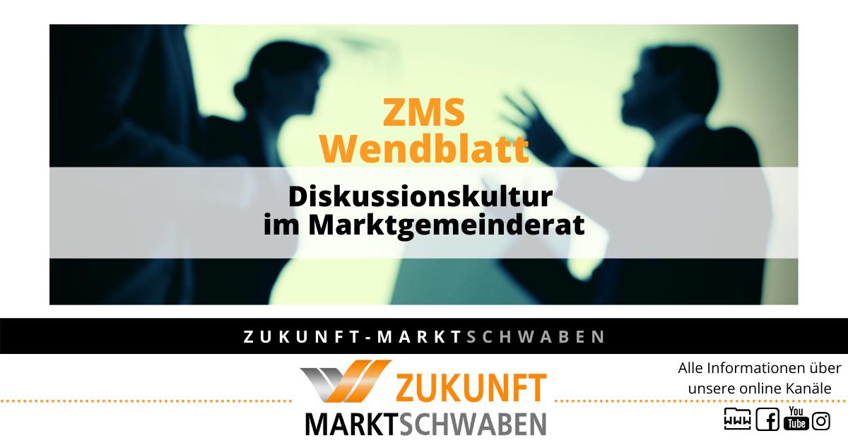 Wendeblatt 10 Zms Diskussionskultur Im Marktgemeinderat